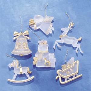 Frosted Ornament Set