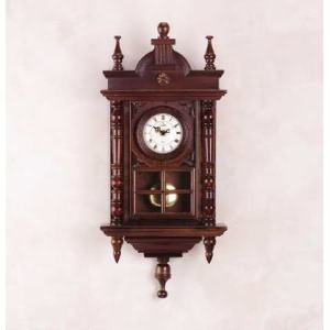 Hardwood Hand-Carved Clock