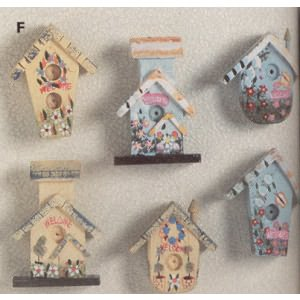 Mini Birdhouse Magnets