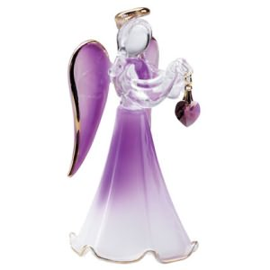 Glass Angel with February Birthstone