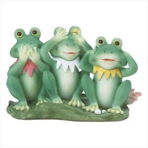 """See, Hear and Speak No Evil"" Frog Trio"