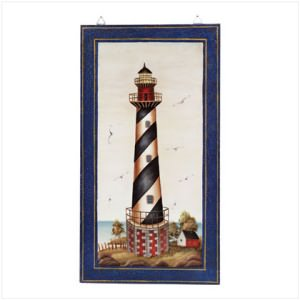 Fancy Lighthouse Wall Plaque