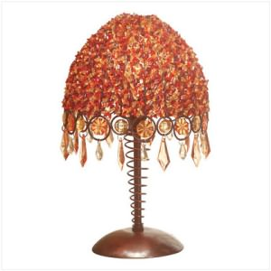 """Autumn Splendor"" Beaded Table Lamp"