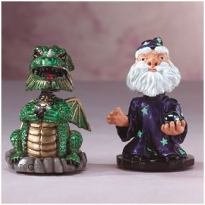 Merlin and Dragon Bobbleheads