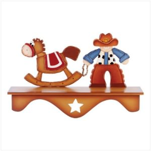 Cowboy and Horse Shelf