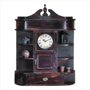 Heirloom Clock Curio Cabinet