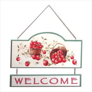 "Apple ""Welcome"" Sign"