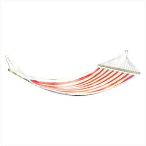 Colorfully Striped Single-Person Hammock