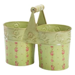 Rose-Embossed Pots