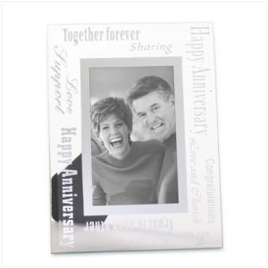Anniversary Glass Photo Frame