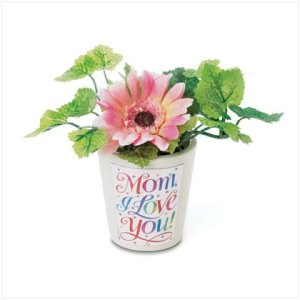 Mom I Love You Mini Flower Pot