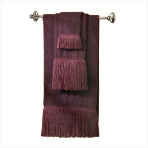 Eggplant Shag Towels Set