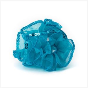 Turquoise Sequin Ponytail Holder