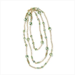 Gold & Green Beads Necklace
